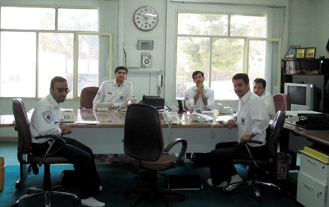 اتاق فرمان فوریتهای پزشکی شهرستان اصفهان سال 1385