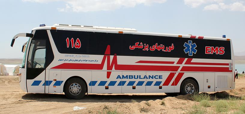 بکارگیری اتوبوس آمبولانس